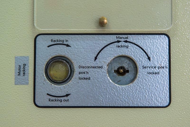 controle a exposição do medidor na central elétrica foto de stock royalty free