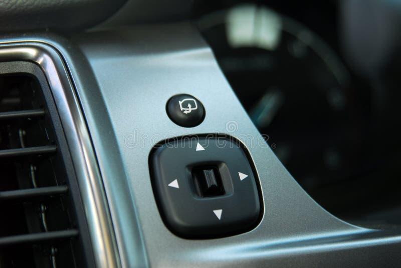 Controle lateral do interruptor do espelho imagens de stock