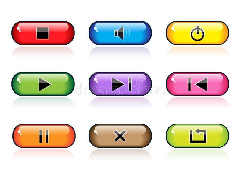 Controle los botones ilustración del vector