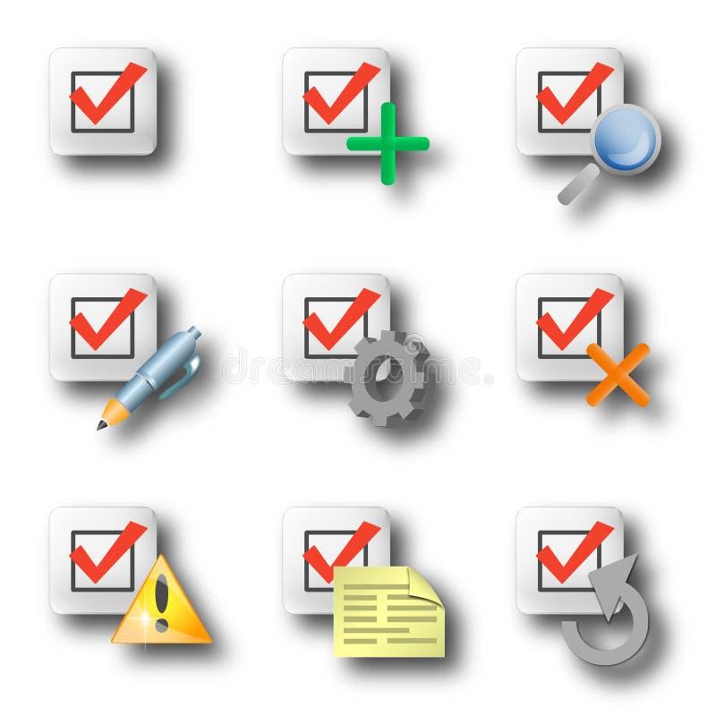 Controle los iconos fotos de archivo libres de regalías