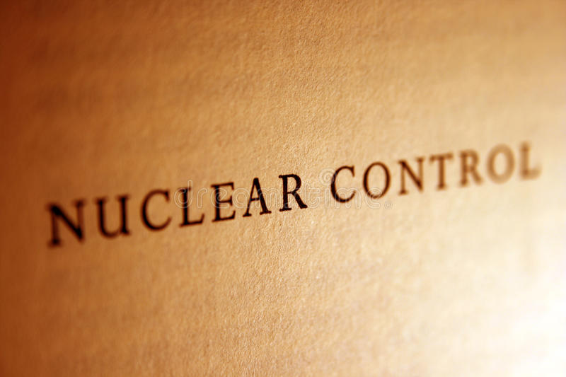 Controle nuclear fotografia de stock
