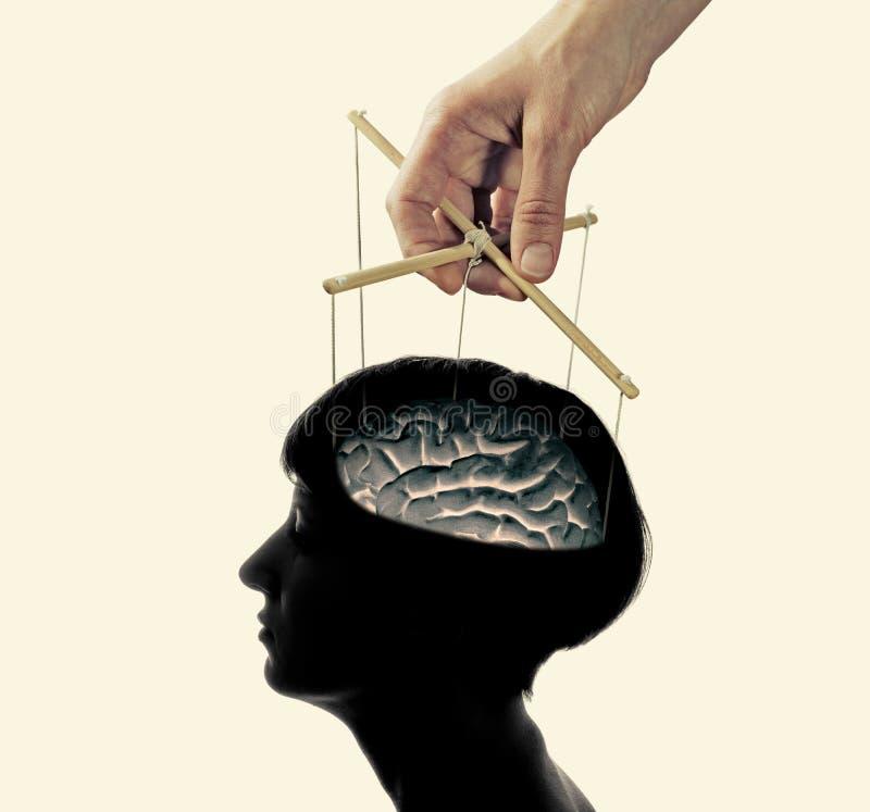 Controle over de hersenen royalty-vrije stock afbeelding