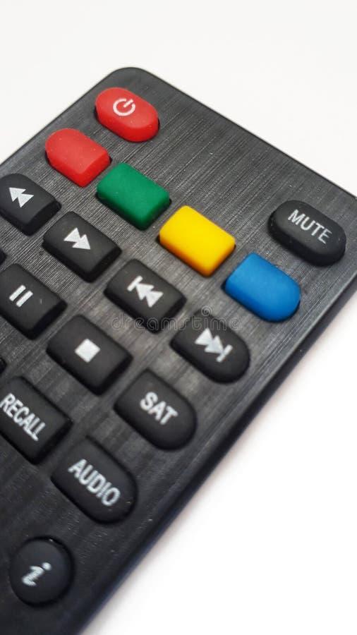 Controle remoto da televisão imagem de stock royalty free