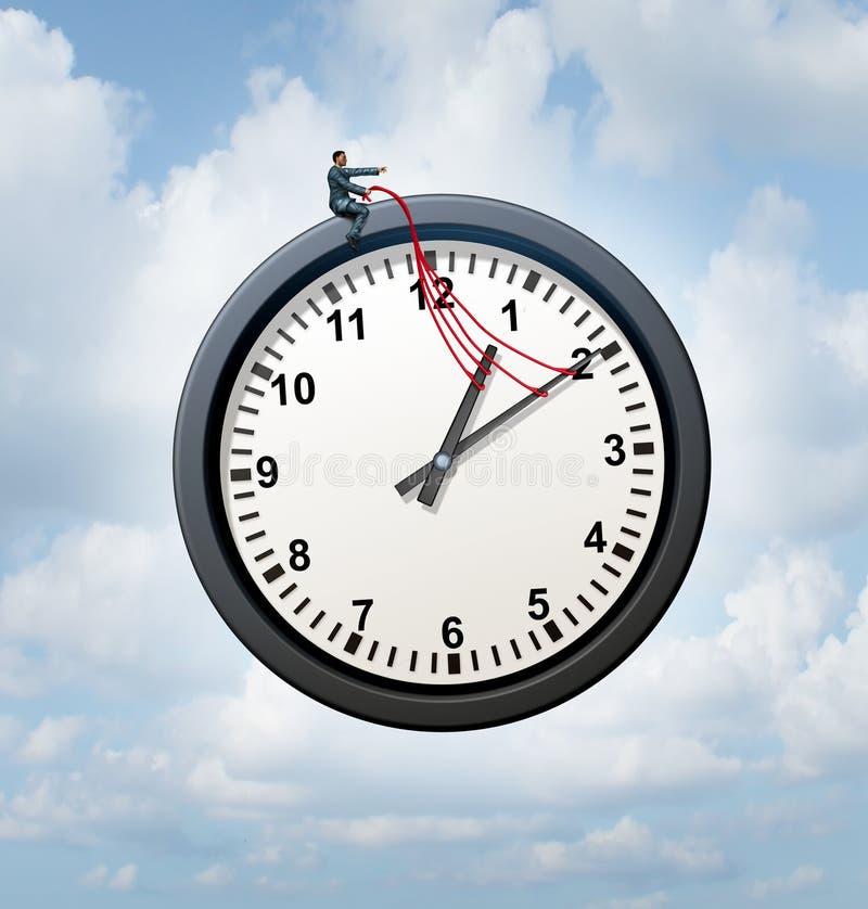 Controle seu tempo ilustração royalty free