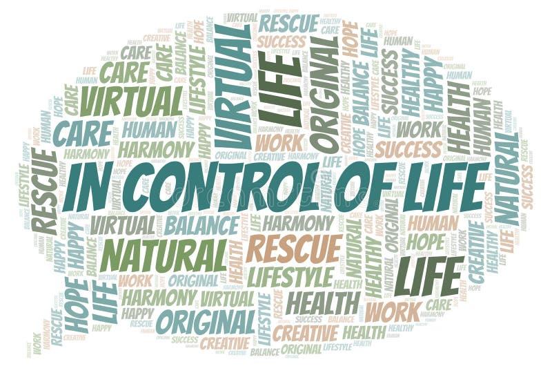In Controle van de wolk van het het Levenswoord royalty-vrije illustratie