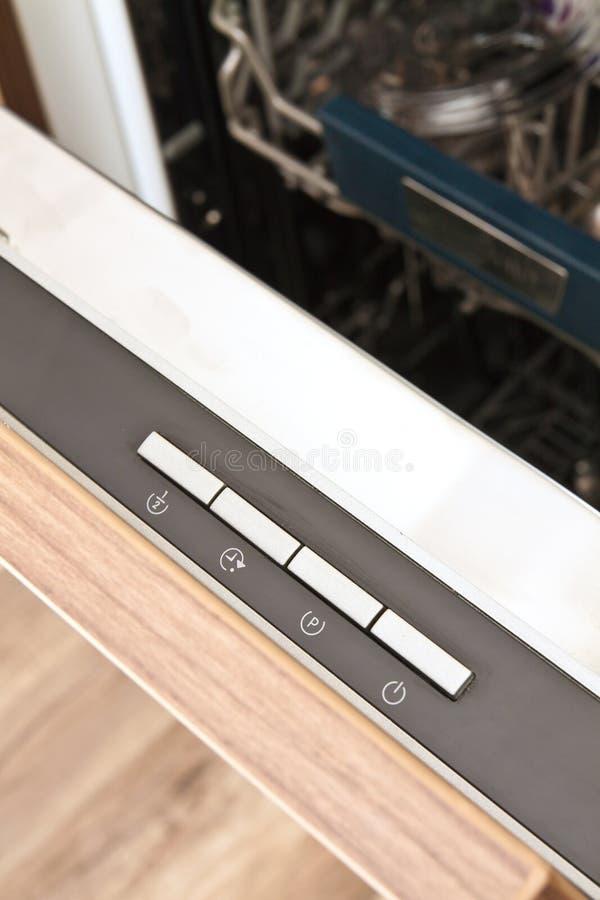 Controlebord van de afwasmachine stock foto