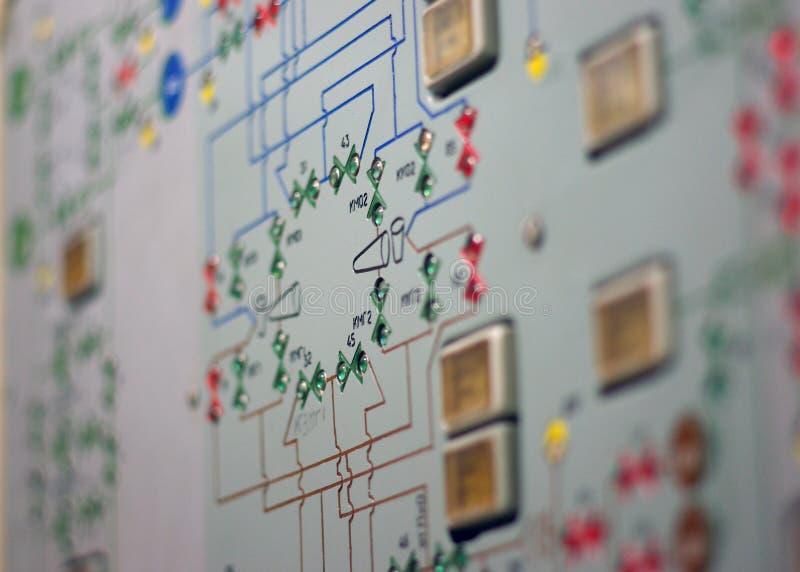 Controlebord van Oud Ruimtestation 2 royalty-vrije stock afbeeldingen