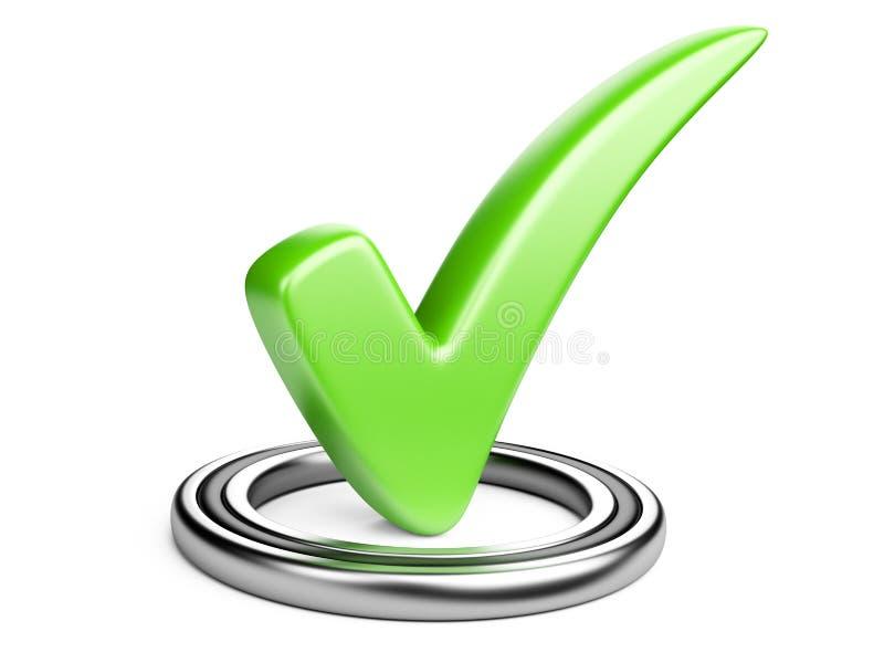 Controledoos met groen vinkje stock illustratie