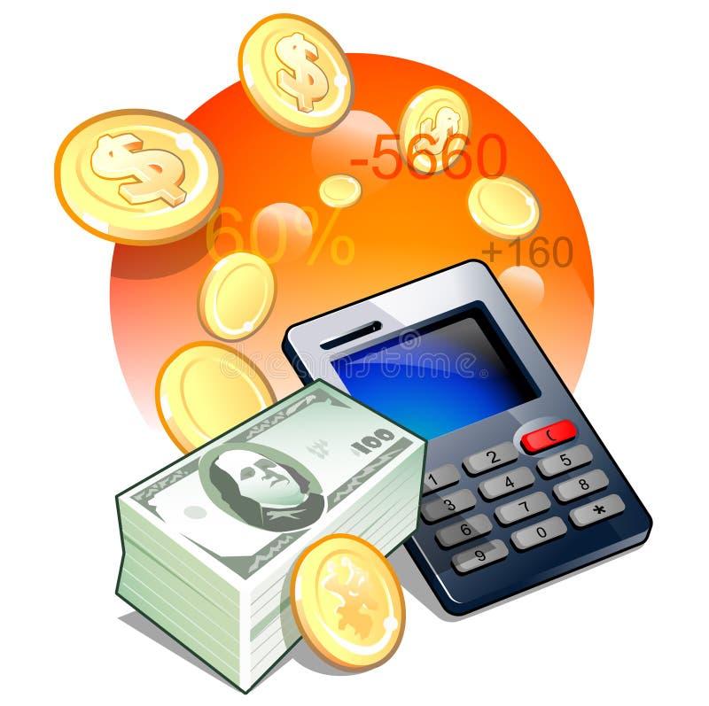 Controleer uw cash flow stock foto