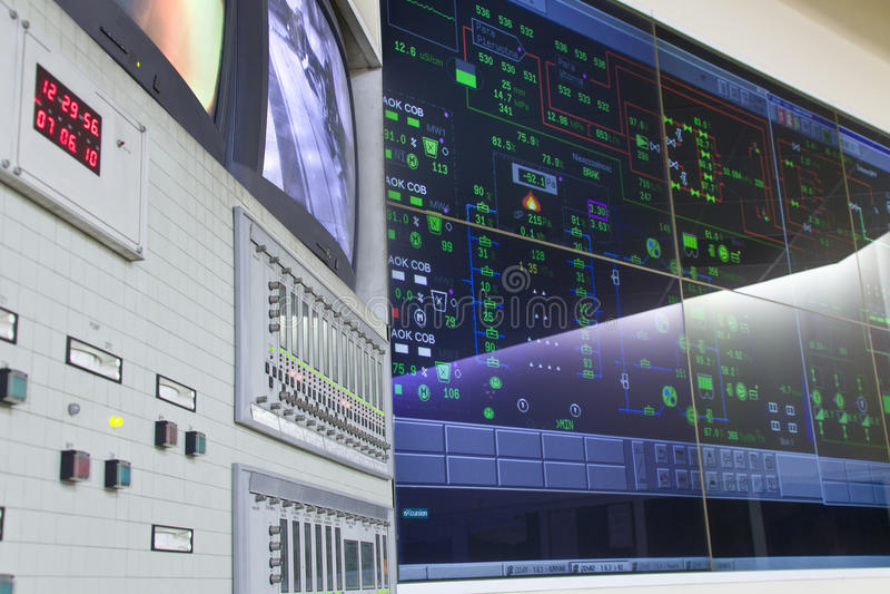 Controlekamer - elektrische centrale stock foto's