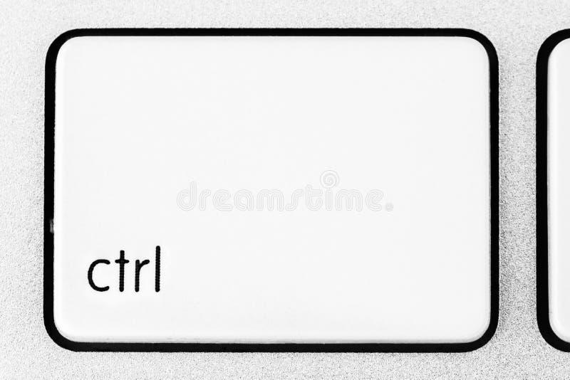 Controleknoop van witte toetsenbord dichte omhooggaand royalty-vrije stock fotografie