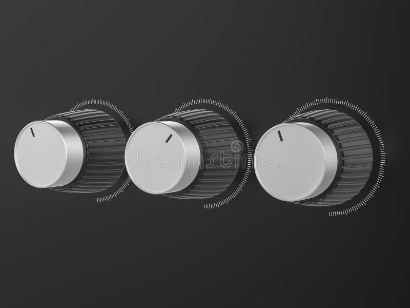 Controleknoppen stock illustratie