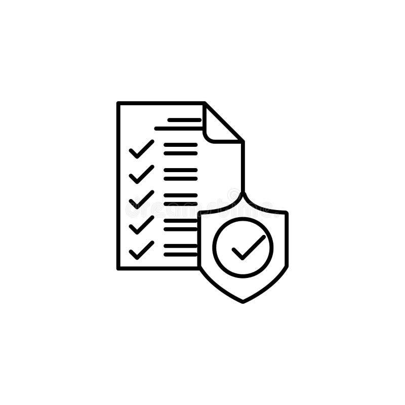 Controlemechanisme, ontwerppictogram Element van het algemene pictogram van het gegevensproject voor mobiel concept en Web apps D vector illustratie