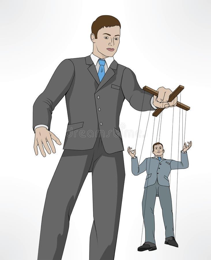 Controlerend bedrijfsmarionettenconcept vector illustratie