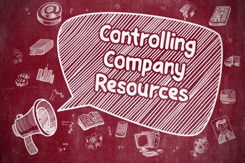 Controlerende Bedrijfmiddelen - Bedrijfsconcept royalty-vrije illustratie