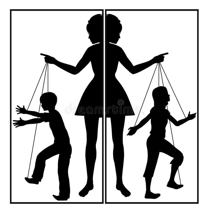 Controlerende Moeder royalty-vrije illustratie