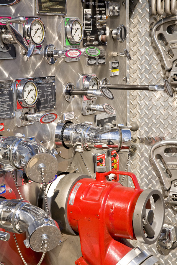 Controles complejos del Firetruck imagenes de archivo