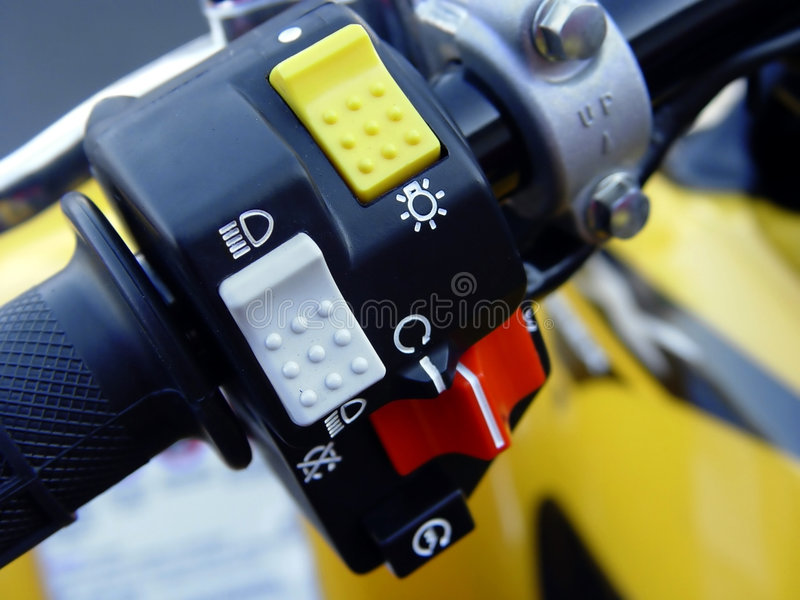 Controles da motocicleta foto de stock