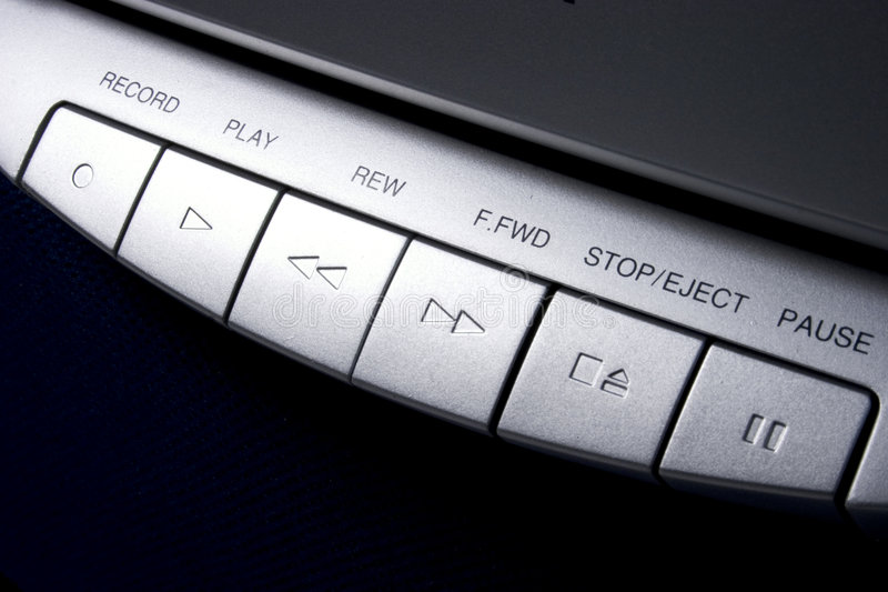 Controles de cinta de cassette imagen de archivo