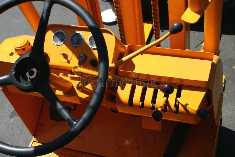 Controles de la carretilla elevadora imágenes de archivo libres de regalías