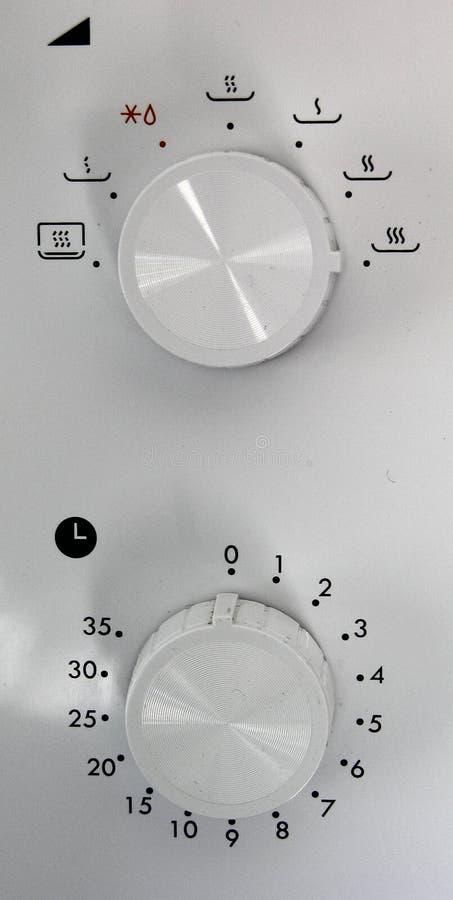 Controles de la microonda fotografía de archivo