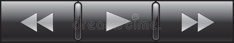 Controles do jogador ajustados ilustração stock