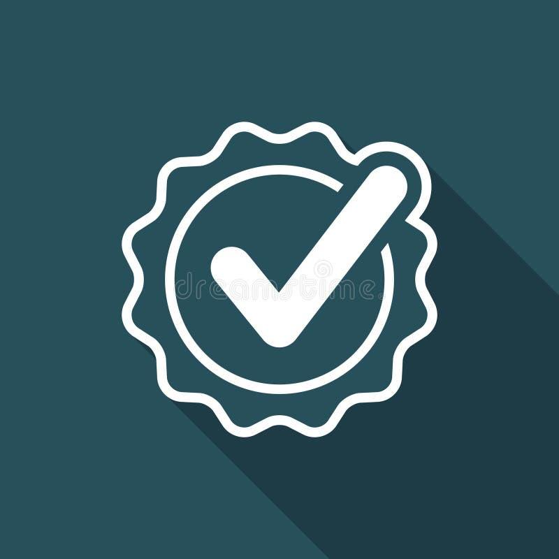 Controletekencertificaat - Vector vlak minimaal pictogram royalty-vrije illustratie