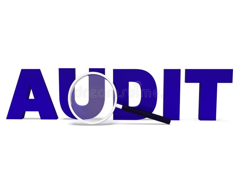 Controleword betekent bevestigend Controle of Nauwkeurig onderzoek royalty-vrije illustratie