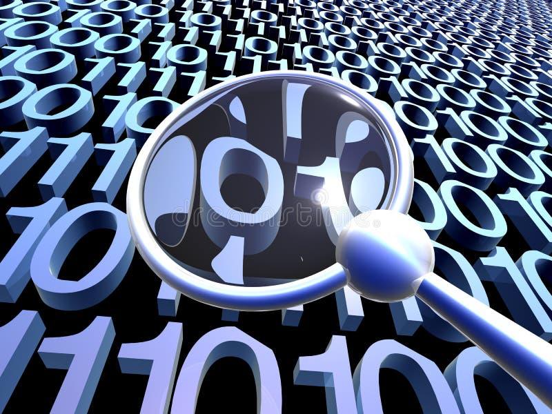 Download Controllando I Dati - Azzurro 2 Illustrazione di Stock - Illustrazione di codice, scoperta: 206649