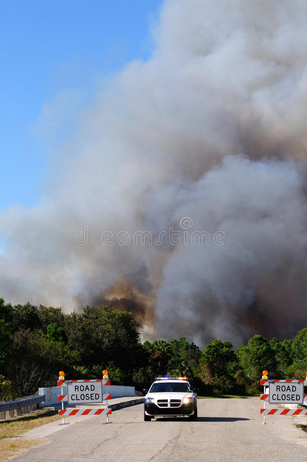 Controlled Burn Security Editorial Stock Photo
