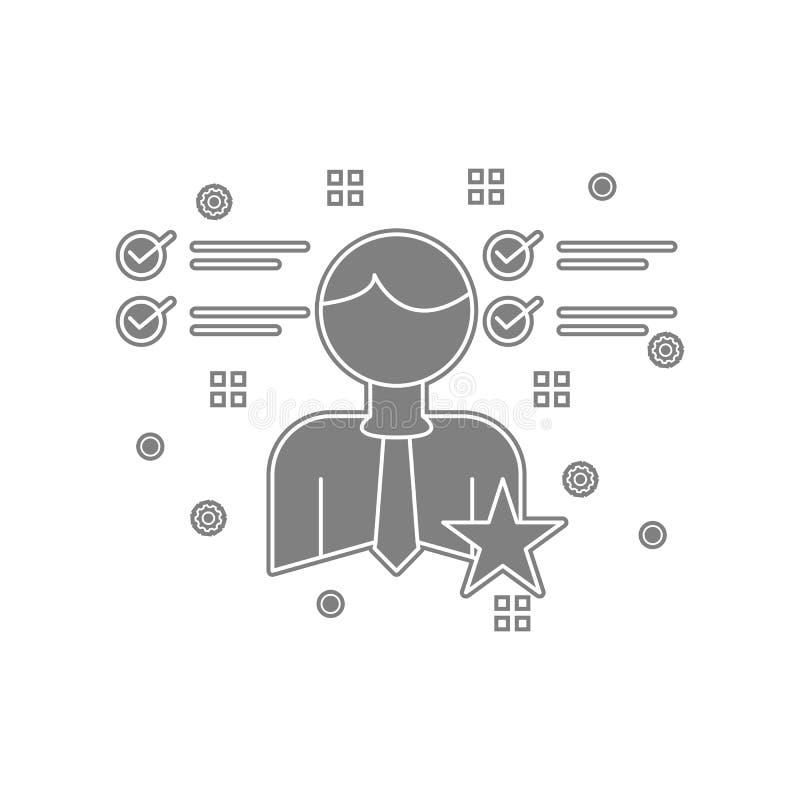 controlli, faccia, elenchi, icona dell'uomo d'affari Elemento di popicon per il concetto e l'icona mobili dei apps di web Glifo,  illustrazione vettoriale