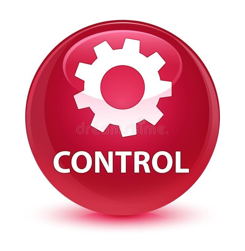Controlli (icona delle regolazioni) il bottone rotondo rosa vetroso royalty illustrazione gratis