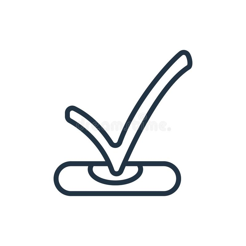 Controlli il vettore dell'icona isolato su fondo bianco, controlli il segno fotografia stock