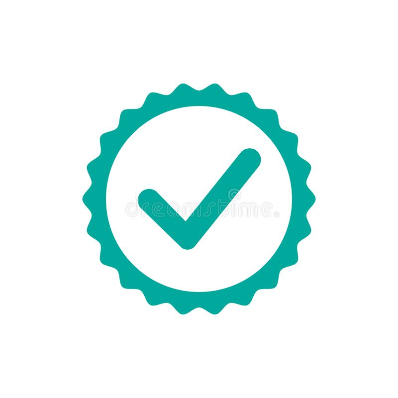 Controlli l'icona Una delle icone stabilite di web - vettore illustrazione di stock