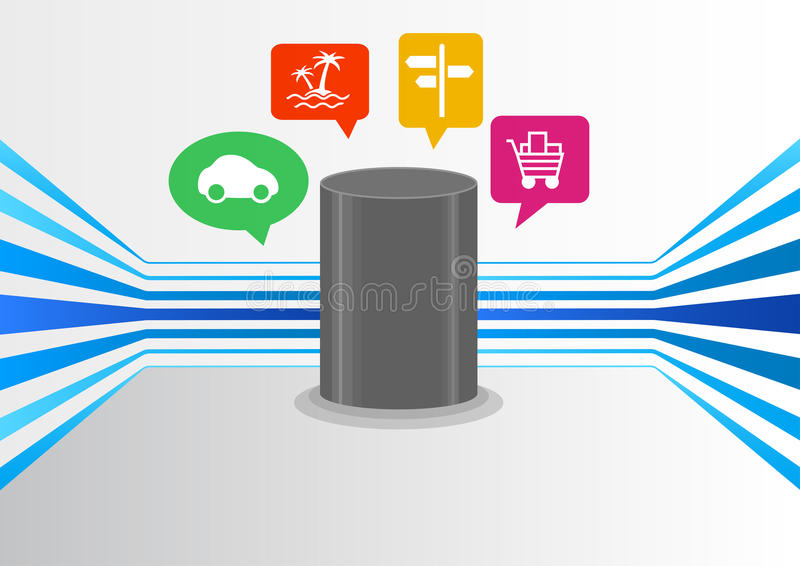 Controlli l'intelligenza artificiale tramite audio dispositivo per la casa astuta con la tecnologia automatica di riconoscimento  illustrazione di stock