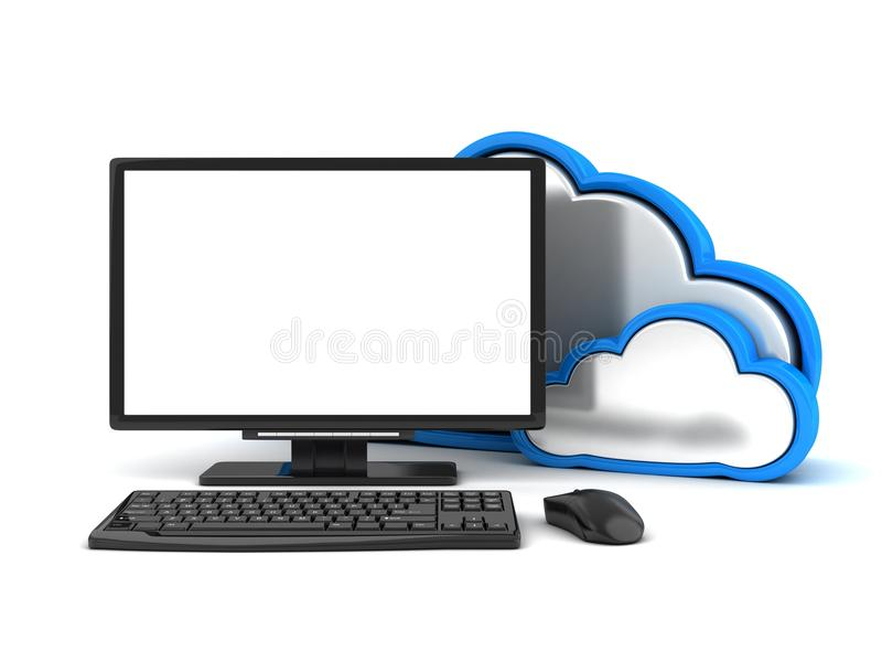 Controlli la nuvola astratta illustrazione di stock