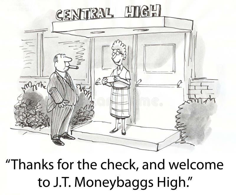 Controlli per vedere se c'è la High School royalty illustrazione gratis