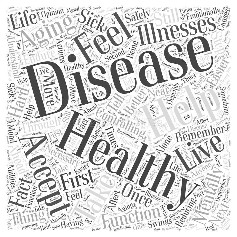Controlling Disease in Healthy Aging word cloud concept word cloud concept vector background. Text vector illustration