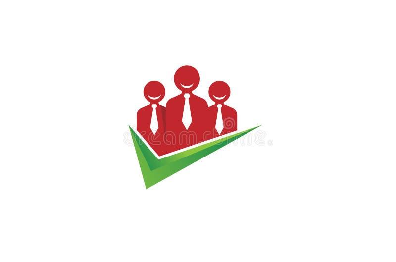 Controllo creativo Logo Design Illustration di tre persone royalty illustrazione gratis