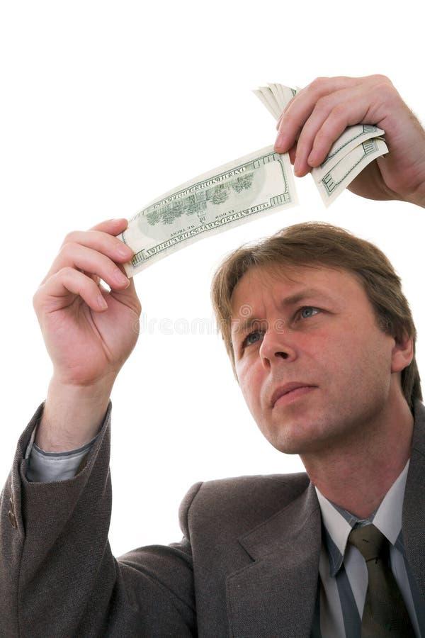 Controllo dei soldi immagini stock