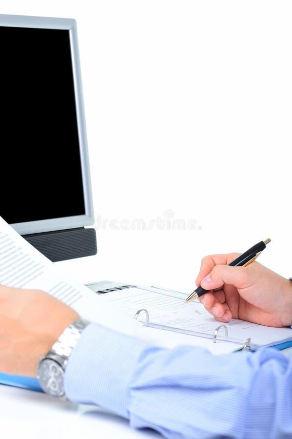 Controllo del lavoro di ufficio immagini stock libere da diritti