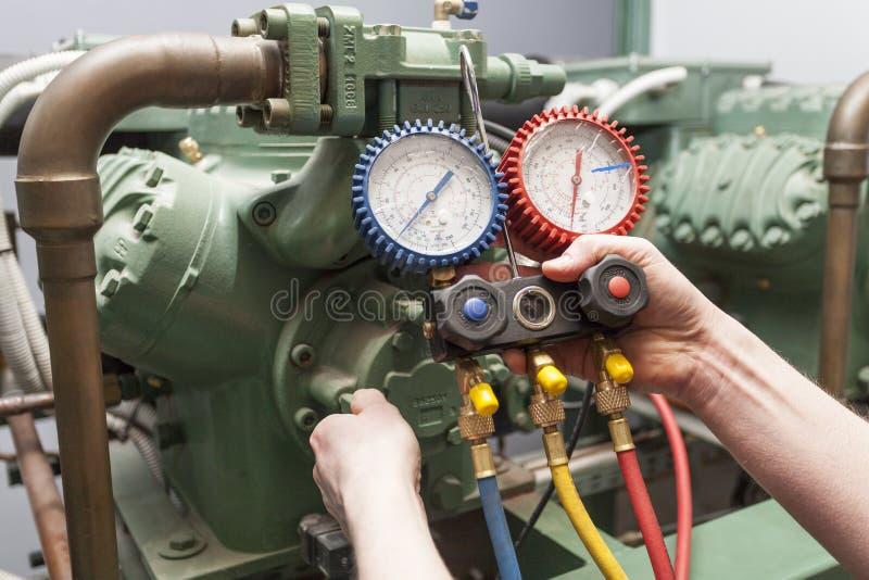 Controllo della pressione fotografia stock