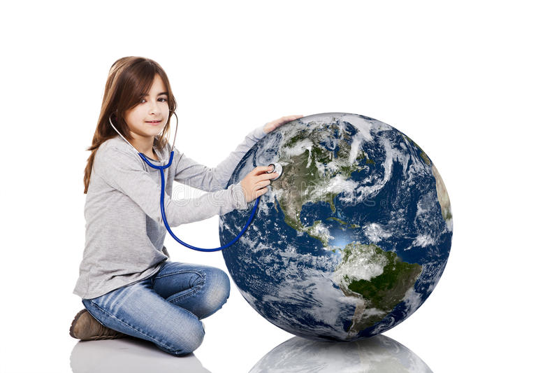 Controllo della salute del pianeta fotografia stock