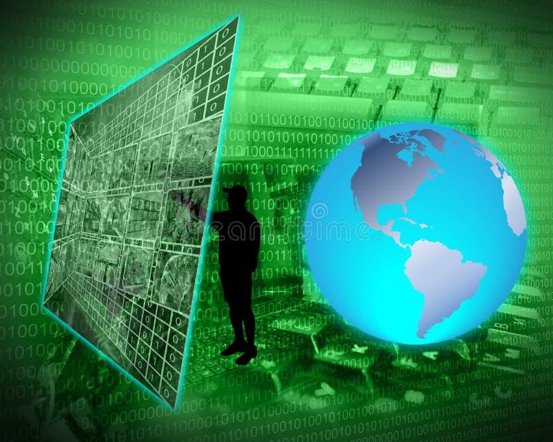 Controllo di Internet illustrazione di stock