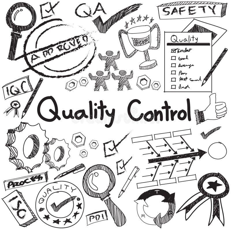 Controllo di qualità nella produzione e in operati di industria manufatturiera illustrazione vettoriale