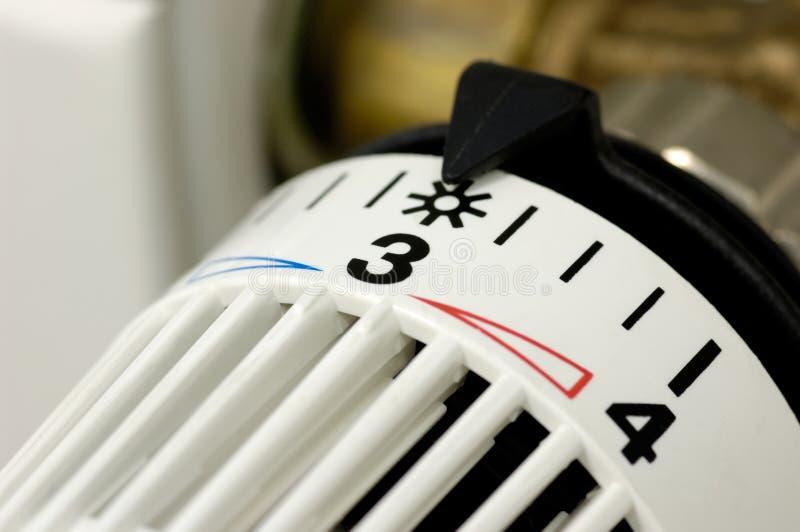 Controllo di riscaldamento immagine stock
