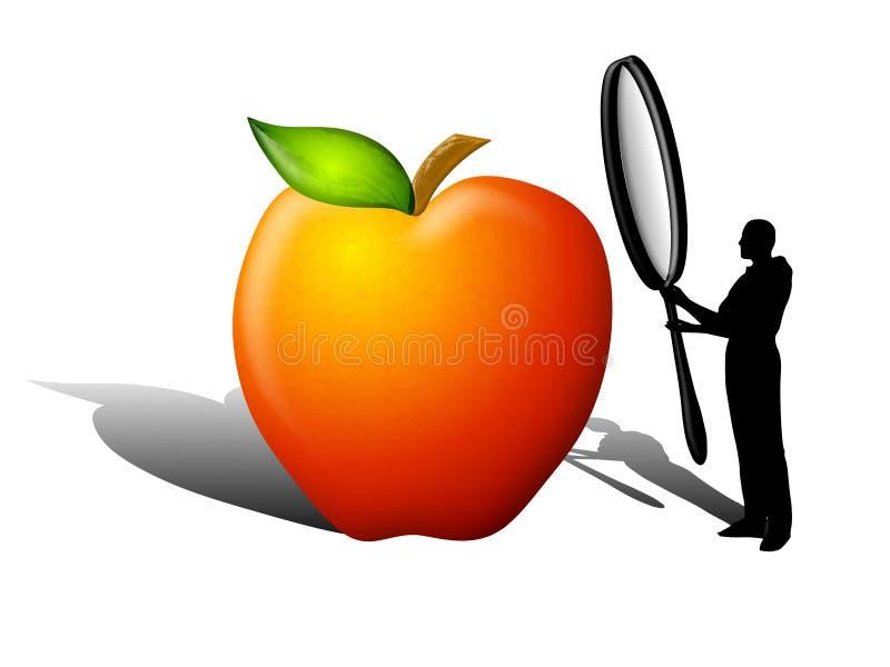 Controllo di sicurezza di qualità dei prodotti alimentari illustrazione di stock
