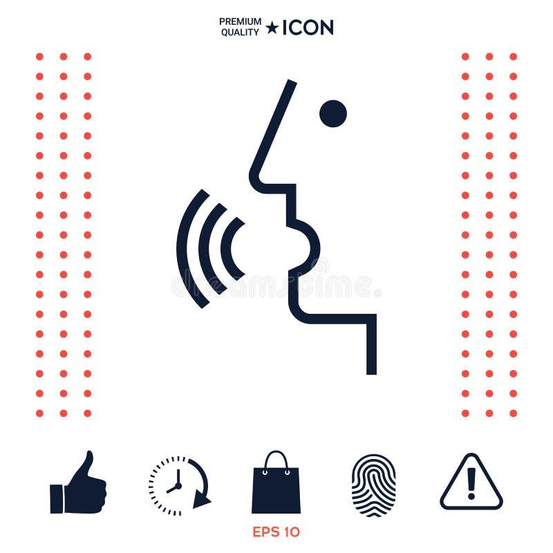 Download Controllo Di Voce, Persona Che Parla - Icona Illustrazione Vettoriale - Illustrazione di nube, mobile: 117977536