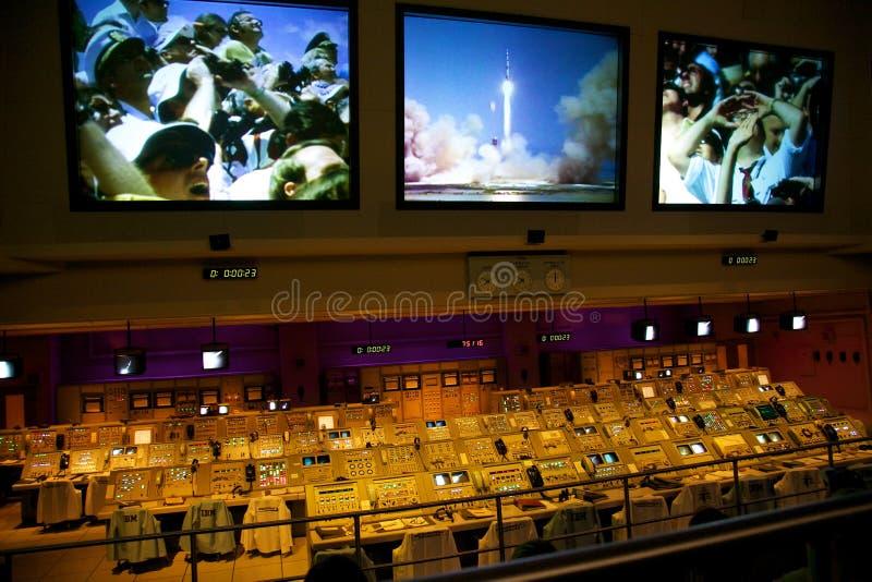 Controllo di volo di missioni della NASA Apollo fotografia stock libera da diritti