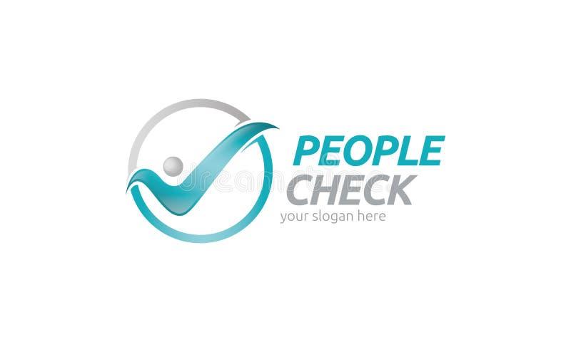 Controllo Logo Template della gente royalty illustrazione gratis